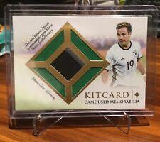 2016 Futera Unique Kitcard Soccer Card Mario Gotze 28/32