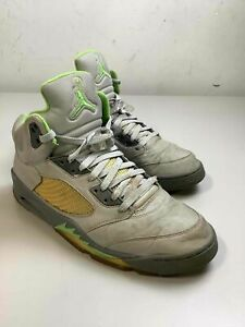 Men's Jordan 5 Retro Green Bean Shoes Size 12