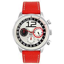 Dolce E Gabbana Chronograph Herren Uhr Edelstahl Rot Advanced D&g 3719740276