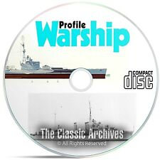 Profile Publications Warships - 40 Volume - Ship War History WW1 WW2 CD DVD B53