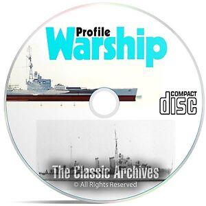 Profile Publications Warships - 40 Volume - Ship War History WW1 WW2 CD DVD B53
