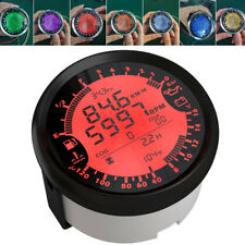 Digital Car GPS Speedo Tacho Indicator Volt Fuel Water Temp Oil Gauge 3Unit 85mm
