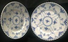 2 Royal Copenhagen FULL LACE PLATES - DESERT or SALAD - 1st Quality - 1086 -