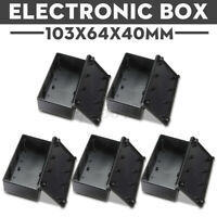 5xWaterproof Cover Project Electronic Instrument Enclosure Box 103x64x40mm Black
