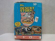 Full Display Box of 36 Desert Storm Trading Card (packs never opened)