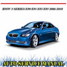 BMW 3 SERIES E90 E91 E92 E93 2006-2010 WORKSHOP SERVICE REPAIR MANUAL ~ DVD