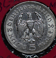 Germany 1936 A 5 Mark silver  190118 combine shipping