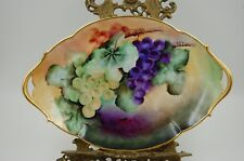 ANTIQUE LIMOGES FRANCE HAND PAINTED GRAPES TRAY PLATTER ...WOW