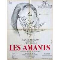 LES AMANTS Affiche de film 60x80  - 1958 -  Jeanne Moreau, Louis Malle