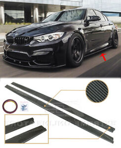 Extended Style CARBON FIBER Side Skirts For 14-18 BMW M3 F80 M Performance