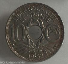 10 centimes lindauer 1938 : B : pièce de monnaie française