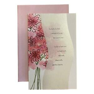 Mother's Day Greeting Card - So lucky to have a wonderful mom like you to love.
