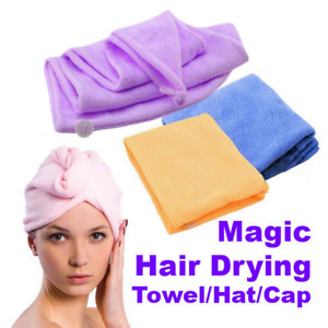 Ladies Quick-drying Microfiber Hair Towel wrapped turban Bath SPA Shower Cap Hat