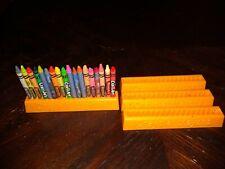 vintage 1976 crayola crayons 18 crayon holder 4 piece set