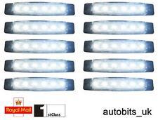 10 pcs 24V 6SMD LED FRONT WHITE CLEAR SIDE MARKER LIGHT LAMP TRUCK TRAILER LORRY