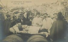 ITALY LA CATASTROPE DE MESSINA CURA DEI FERITI OLD REAL PHOTO POSTCARD VIEW