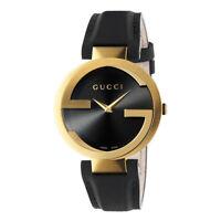 Gucci YA133326 Interlocking Black Dial Gold Tone Women's Watch