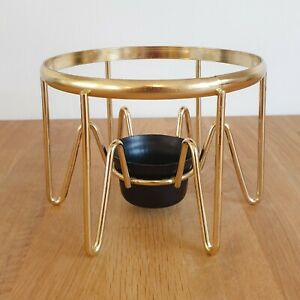 Vintage Retro JAJ / Pyrex Gold Coffee Pot Stand / Tea Light Warmer