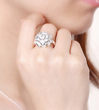 Sterling Silver Ring Classic Blossoming Floral Jewelry Ladies Size 9 Hakbaho