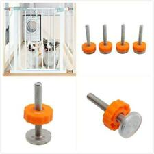 4PCS Baby Safety Stairs Gate Screws Bolt with Locking Nut Spare Part Home 6A