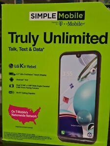 NEw Tracfone LG K31 Rebel Prepaid Phone  4G 32gb + Sim included unlimited call
