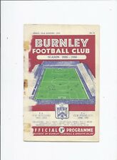 Burnley v Blackpool 22 August 1955