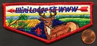 ILLINI OA LODGE 55 BSA PRAIRELANDS COUNCIL IL DEER RED PATCH S-2 SERVICE FLAP
