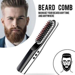 Portable Cordless Beard Straightener Electric Hair Brush Comb for Men/Women UK