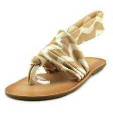 Sandalias con tiras de mujer de lona Talla 38.5
