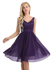 Womens Embroidered Lace Party Cocktail Evening Dress Bridesmaids Skater Dresses
