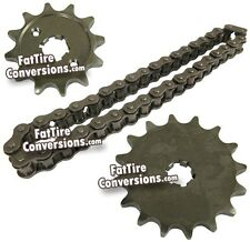 YAMAHA BW350 BW 350 BIG WHEEL FRONT DRIVE CHAIN & SPROCKETS WITH DID CHAIN NEW!
