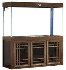 175 Gallon Glass Fish Tank Aquarium with Led Light and Stand Bundle Pump Wood