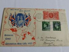 More details for (4434) 1937 illustrated coronation first day cover with 3 reign stamps attached