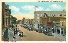1920s Boulder Colorado Pearl Street Business Sanborn Flag autos 5661