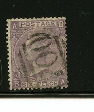 Great Britain #45 (GB163) Queen Victoria 6 pence lilac, Plate #5, U,F,CV$100.00