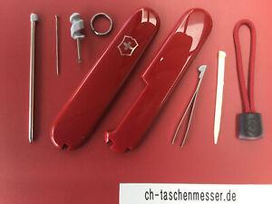 Victorinox Schalen Ersatzteil Taschenmesser 91mm Set Kugelschreiber Schlaufe