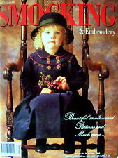 Australian SMOCKING & EMBROIDERY Issue 30:19994-Attached Uncut Patterns Like New