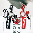 supreme key chains Coke Cola Key Holder Backpack Pendant Car key pendant