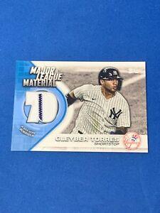 2021 Topps Baseball Major League Material Card of Gleyber Torres!!