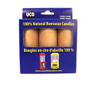 Beeswax Candle 3 Pack Uco Emergency Survival Candles 12 to 15 hour Burn Time