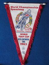 Vintage Speedway Pennant - World Team Cup - Inter-Continental Final - 1983