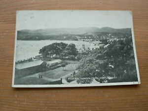 Old 1917 Postcard, West Bay, Dunoon from Castle Hill