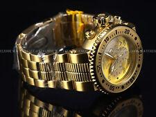 Invicta Men 52mm XL Pro Diver Combat Seal Chrono Gold Tne Bracelet SS Watch 500m