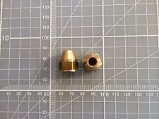 7/16 UNF female Tube union nut fitting brake 1/4 pipe hardline in BRASS x 2 off
