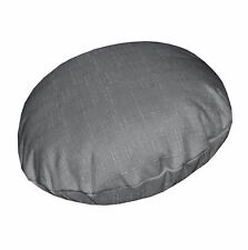 Qh12n Grey Thick Cotton Blend Round Cushion Cover/Pillow Case Custom Size