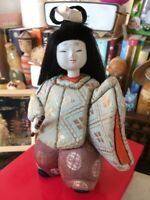 Kimekomi-Ningyo Japanese Vintage Traditional Doll Figurine with sword H. 6.5""