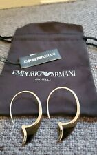 NWT Emporio Armani loop sterling silver earrings