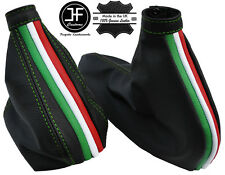 GREEN STITCH ITALIAN FLAG GEAR & HANDBRAKE GAITER FITS ALFA ROMEO 156 98-06