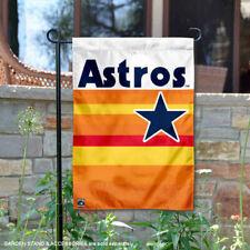 Houston Astros Vintage Rainbow Stripes Garden Flag and Yard Banner