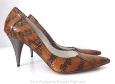 ROSA ROSA Size 40 Leather High Heels Pumps Made in Italy